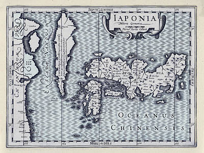Map Of Japan Photograph - Map Of Japan 1629 by Andrew Fare