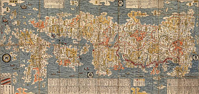 Map Of Japan Photograph - Map Of Japan 1697 by Andrew Fare