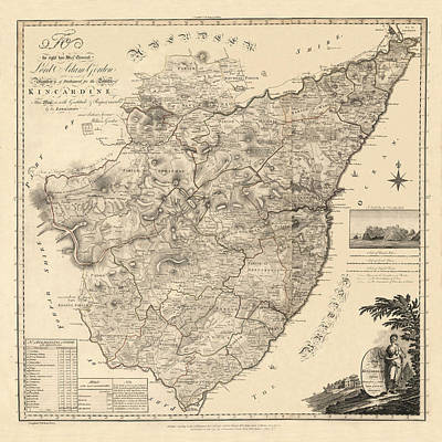 Photograph - Map Of Kincardine 1774 by Andrew Fare