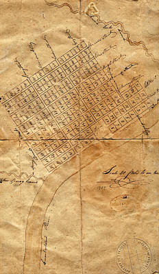 Photograph - Map Of Nashville 1789 by Andrew Fare