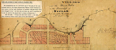 Photograph - Map Of Nepean 1826 by Andrew Fare