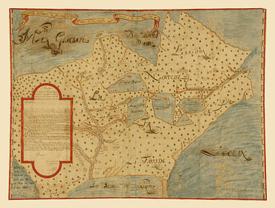 Photograph - Map Of North America 1673 by Andrew Fare