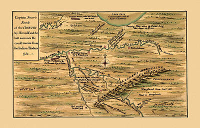 Map Of Pennsylvania Photograph - Map Of Pennsylvania 1754 by Andrew Fare