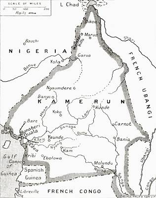 Map Of The Cameroons, Scene Of One Of Art Print