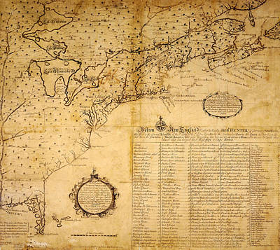 Photograph - Map Of The Great Lakes 1717 by Andrew Fare