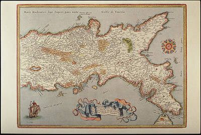 Cartography Photograph - Map Of The Kingdom Of Naples by Fototeca Storica Nazionale