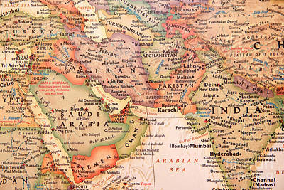 Photograph - Map Of The Middle East by Jill Lang