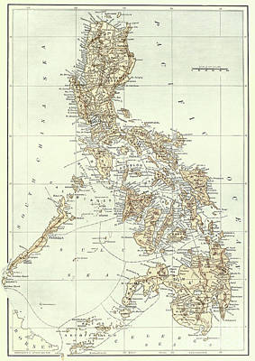Philippines Drawing - Map Of The Philippines by American School