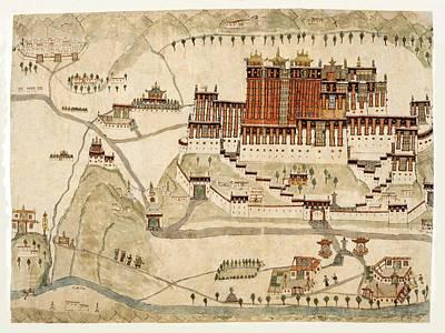 Map Of Tibet 1860 Art Print