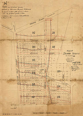 Photograph - Map Of Washington 1882 by Andrew Fare