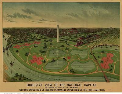 By Currier And Ives Painting - Map Of Washington by MotionAge Designs