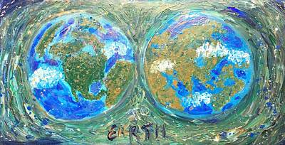 Painting - Map To Earth  by Dorothy Visker