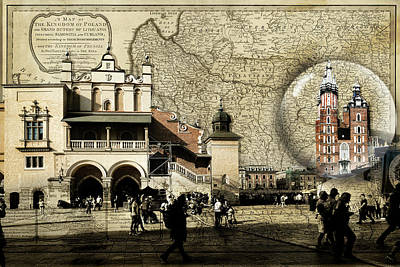 Photograph - Map To Krakow Globe by Sharon Popek