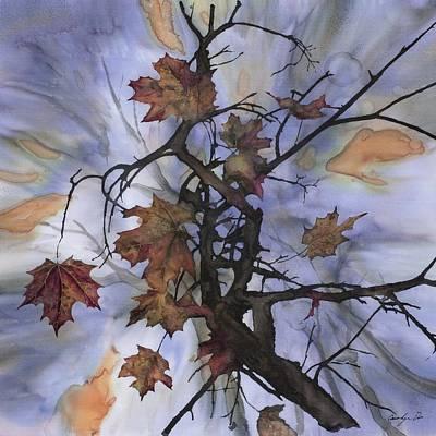 Maple Autumn Splash Original by Carolyn Doe