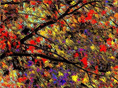 Faith Hope And Love Digital Art - Maple Flavor Abstract by Abstract Angel Artist Stephen K