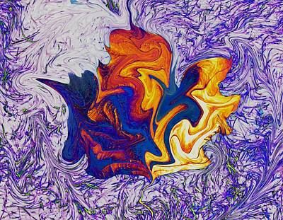 Digital Art - Maple Leaf Abstract by Max DeBeeson