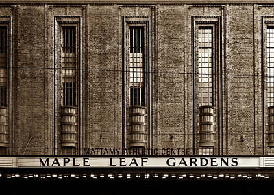 Photograph - Maple Leaf Gardens by Brian Carson