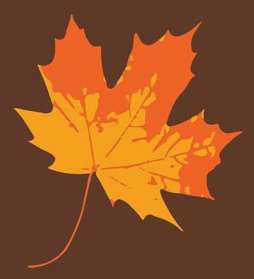 Digital Art - Maple Leaf by Jennifer Hotai