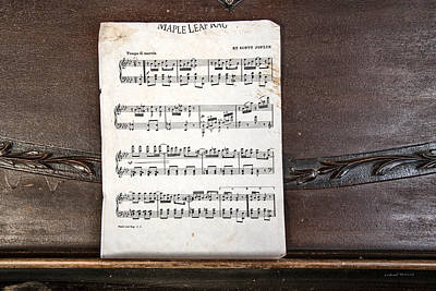 Piano Photograph - Maple Leaf Rag by Leland D Howard