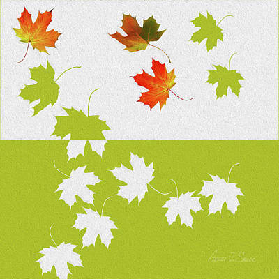 Digital Art - Maple Leaves Fall Fell Fallen by Robert J Sadler