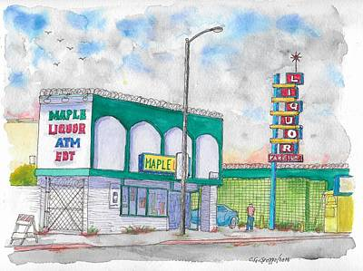 Maple Liquor In Hawthorne Blvd, Los Angeles, California Original by Carlos G Groppa