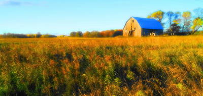 Photograph - Maple Ridge Fall Barn by Daniel Thompson
