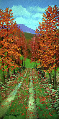 Painting - Maple Road by Frank Wilson
