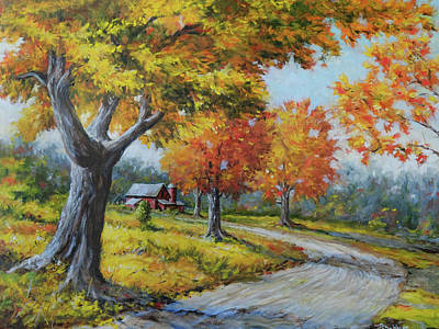 Painting - Maple Road by Richard De Wolfe
