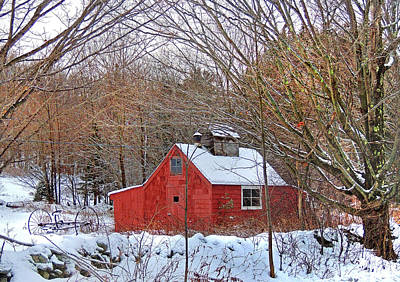 Photograph - Maple Sugar Shack At Mount Cube by Nancy Griswold