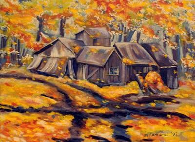 Maple Sugar Shack In Quebec Art Print by Tamara Kulish