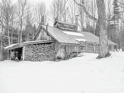 Photograph - Maple Sugar Shack Stowe Vermont by Edward Fielding