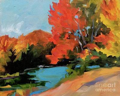 Painting - Maples At Colton Pond by Lynne Schulte