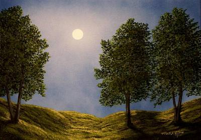 Painting - Maples In Moonlight by Frank Wilson