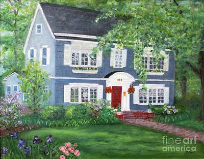 Painting - Maplewood Colonial by Tracey Peer
