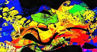 Digital Art - Mapping My Mind Abstract by Dorothy Berry-Lound