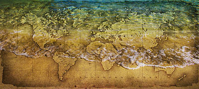 Oceania Photograph - Maps by Martin Newman