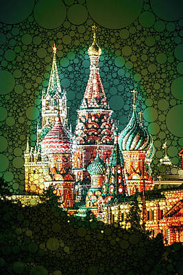 Mixed Media - Mar-a-moscow by Susan Maxwell Schmidt
