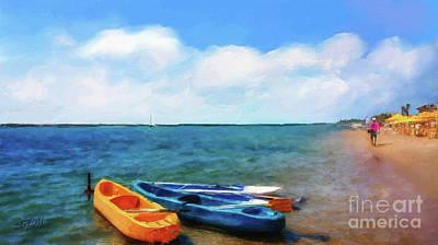 Mar Beach Art Print by Shirley Stalter