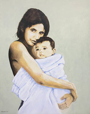 Painting - Mara And Il Bambino by Victor Minca