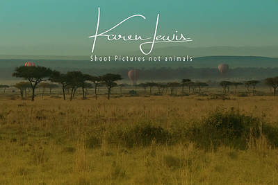 Photograph - Mara Balloon Rides by Karen Lewis