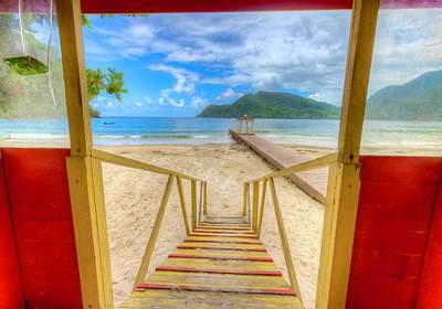 Photograph - Maracas Bay, Trinidad 3 by Nadia Sanowar