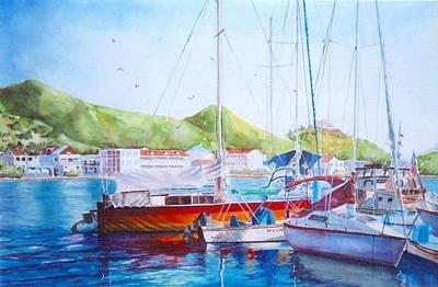 Maragot Harbor Art Print by Laura Lee Zanghetti