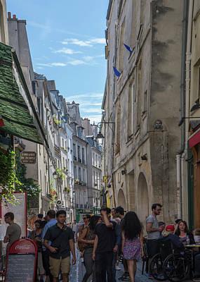 Digital Art - Marais Paris Street Scenes by Carol Ailles