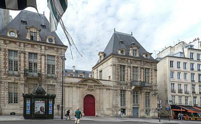 Digital Art - Marais Paris Street Scenes  Ecole Des Francs Bourgeois by Carol Ailles