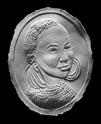 Photograph - Marakwet Tribe Woman Relief Portrait by Suhas Tavkar