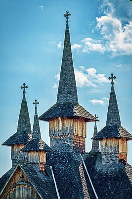 Photograph - Maramures Church Spires - Romania by Stuart Litoff