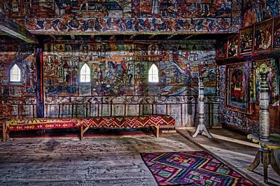 Photograph - Maramures Romania Church Interior #2 by Stuart Litoff