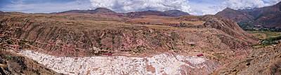 Photograph - Maras Salt Flats by Lucinda Walter