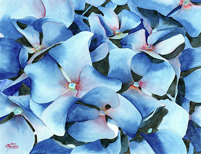 Painting - Marathon Hydrangeas by Ken Powers