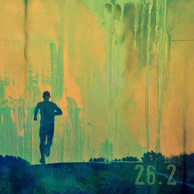Shoe Digital Art - Marathon Runner by Brandi Fitzgerald